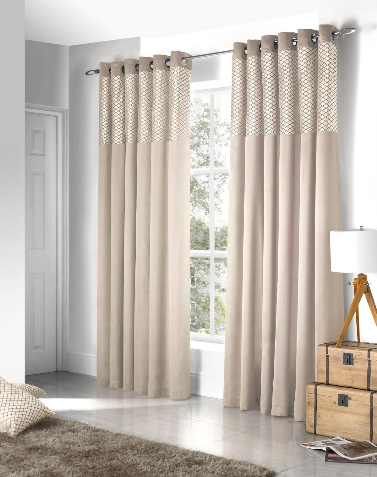 faux rooms new fully jacquard of made red brown curtain pair cream product black imperial curtains lined paisley eyelet silk and detail ready