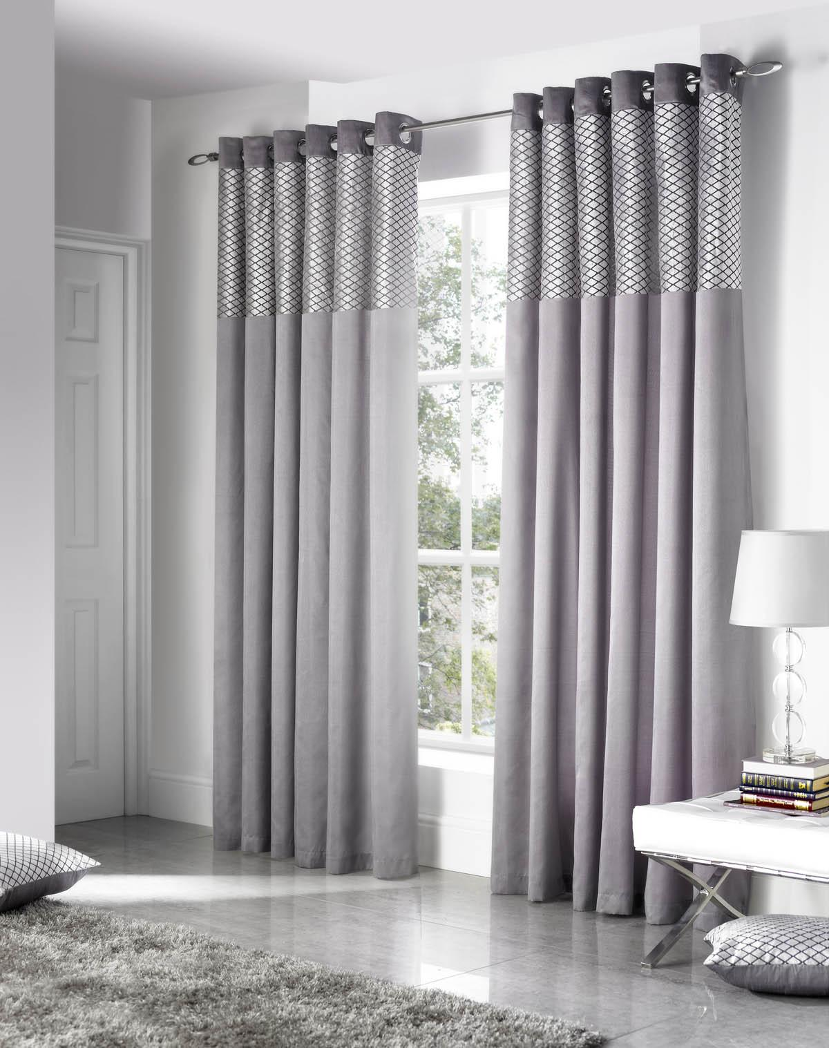 silver savoy ready made eyelet curtains free uk delivery terrys