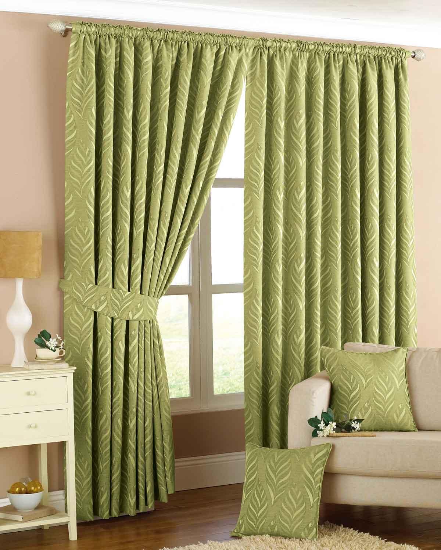 Wonderful Narrow Leaf Ready Made Lined Curtains