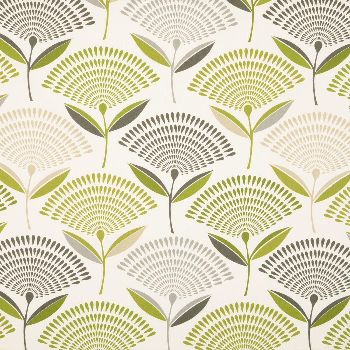 Dandelion Curtain Fabric - eucalyptus - Terrys Fabrics UK