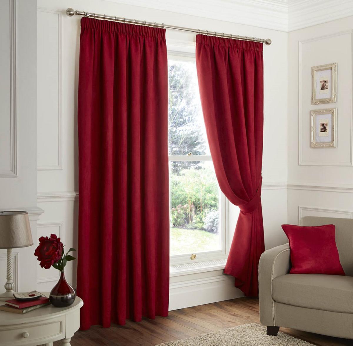 Faux Suede Ready Made Lined Curtains Part 58