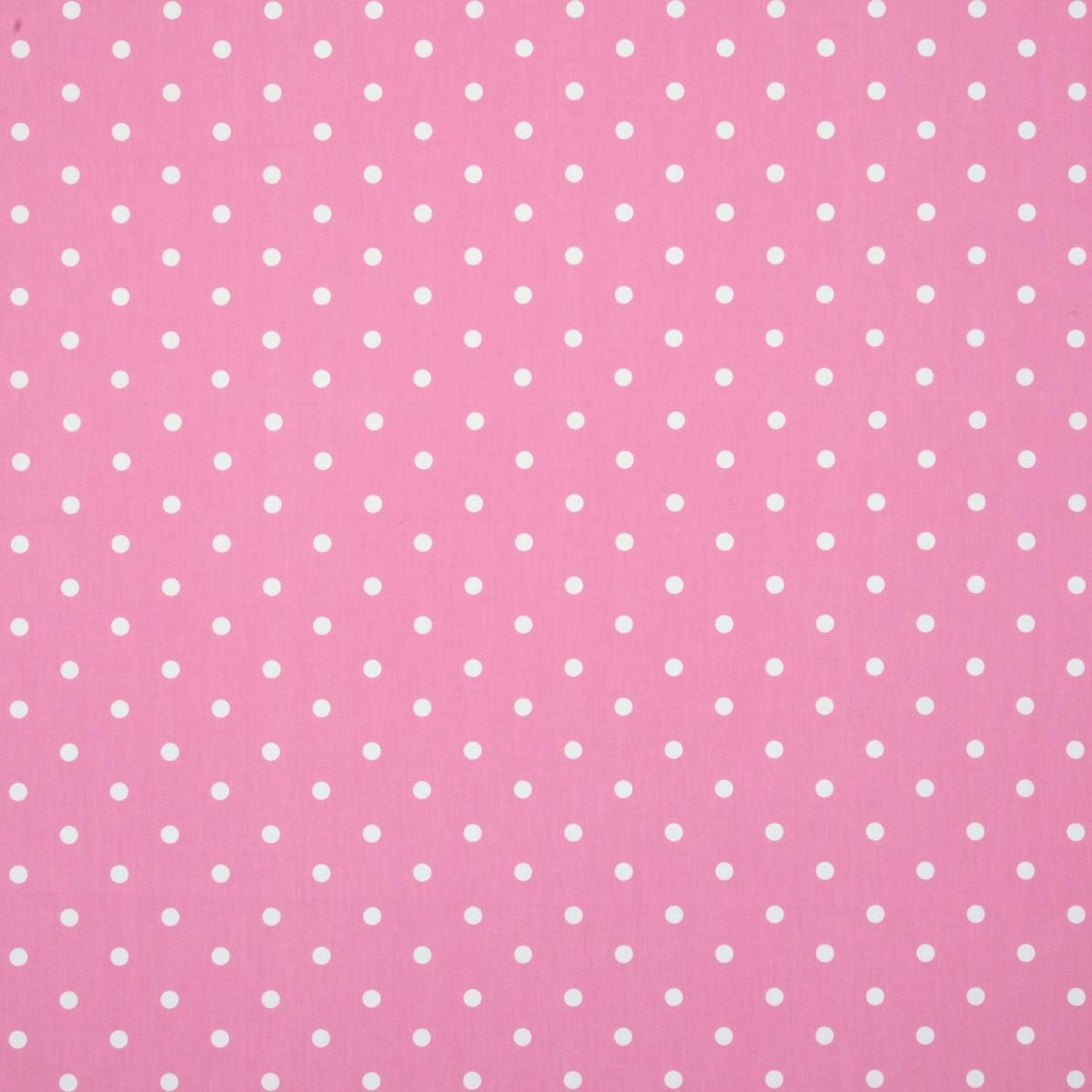 Pink and white polka dot curtains - Polka Dot Curtain Fabric