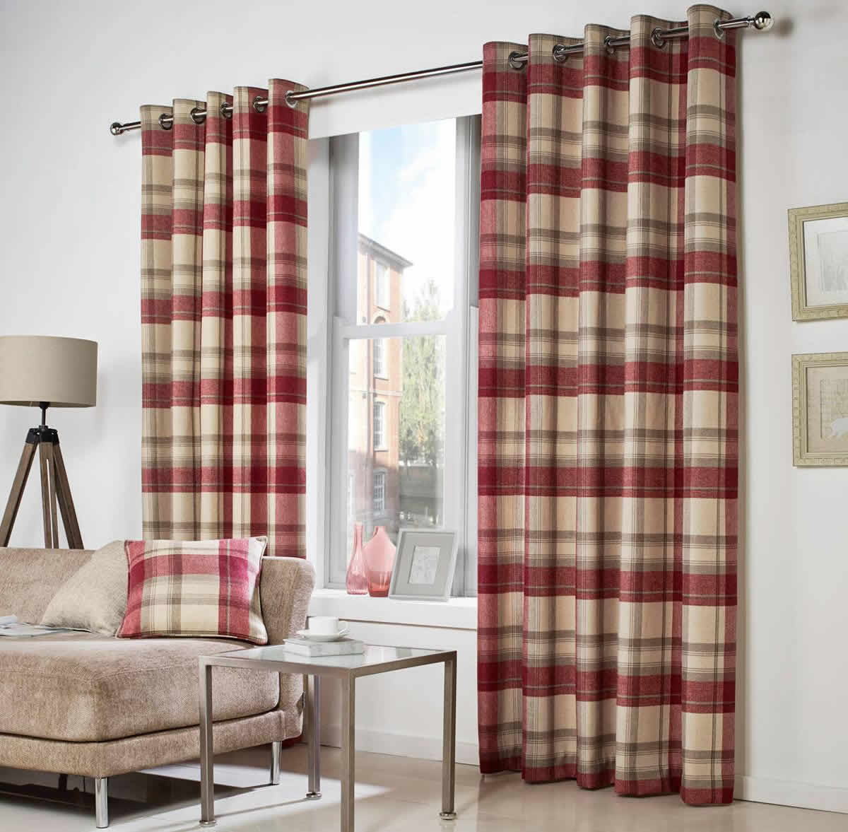 Living Room Ready Made Curtains Belvedere Ready Made Curtains In Plum Terrys Fabrics Uk