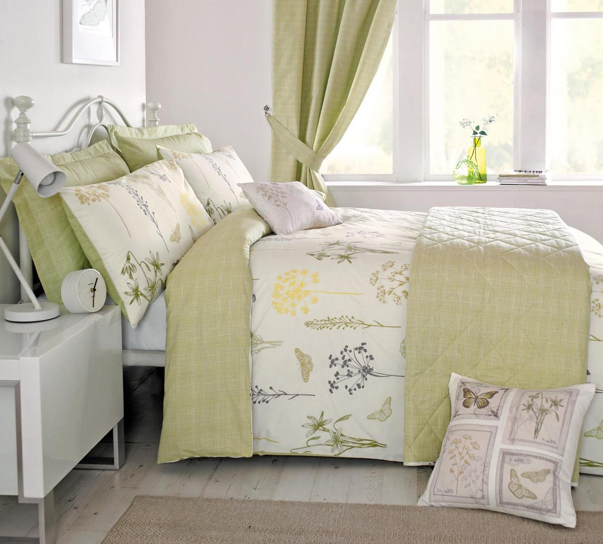 botanique bedding set in green  free uk delivery  terrys fabrics - botanique bedding set