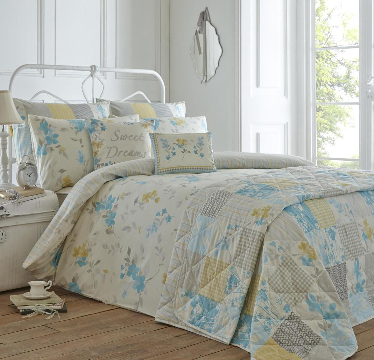 Palonia Bedding Set In Duck Egg   Free UK Delivery   Terrys Fabrics : duck egg blue quilt cover sets - Adamdwight.com