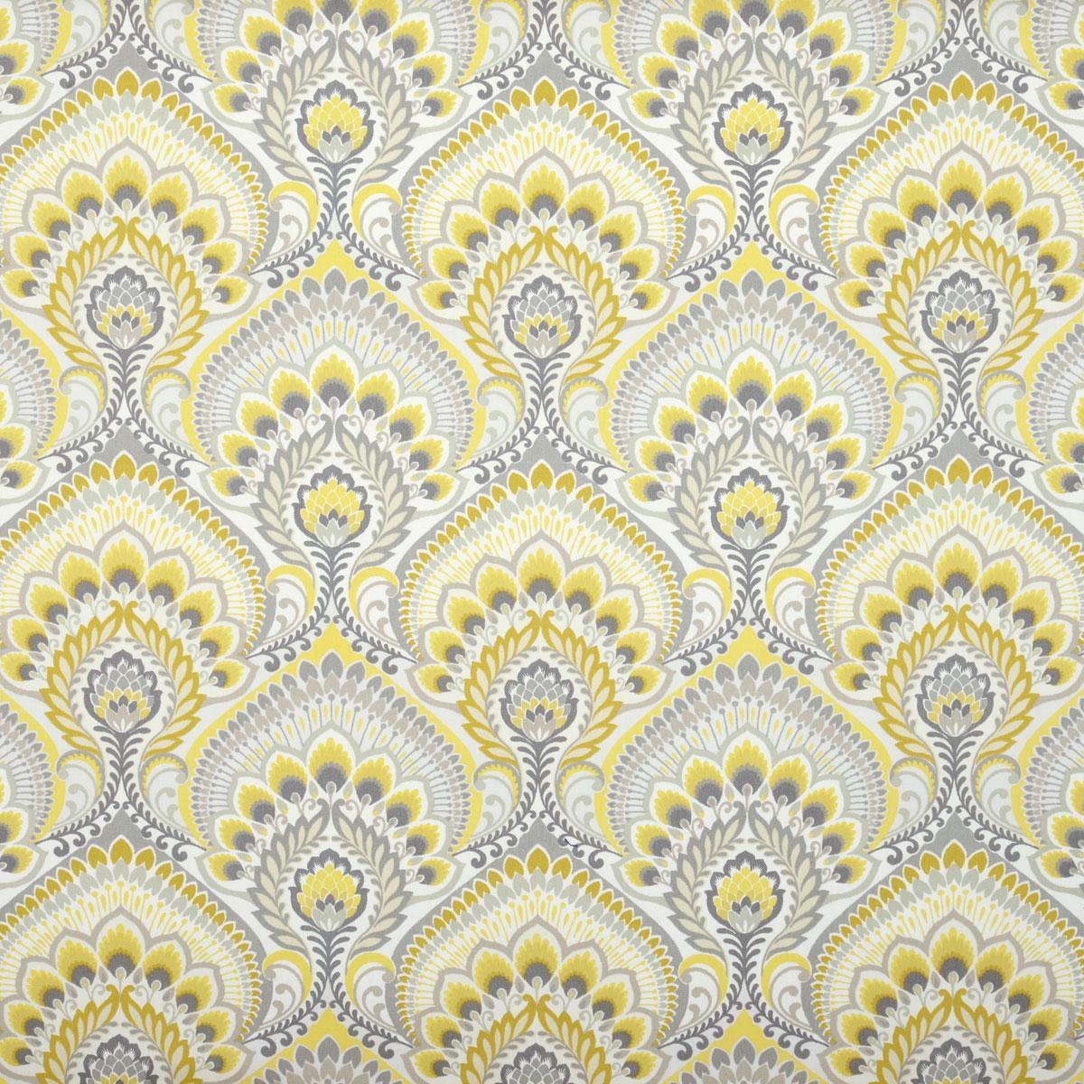 Nikita Curtain Fabric In Sulphur | Free UK Delivery | Terrys Fabrics