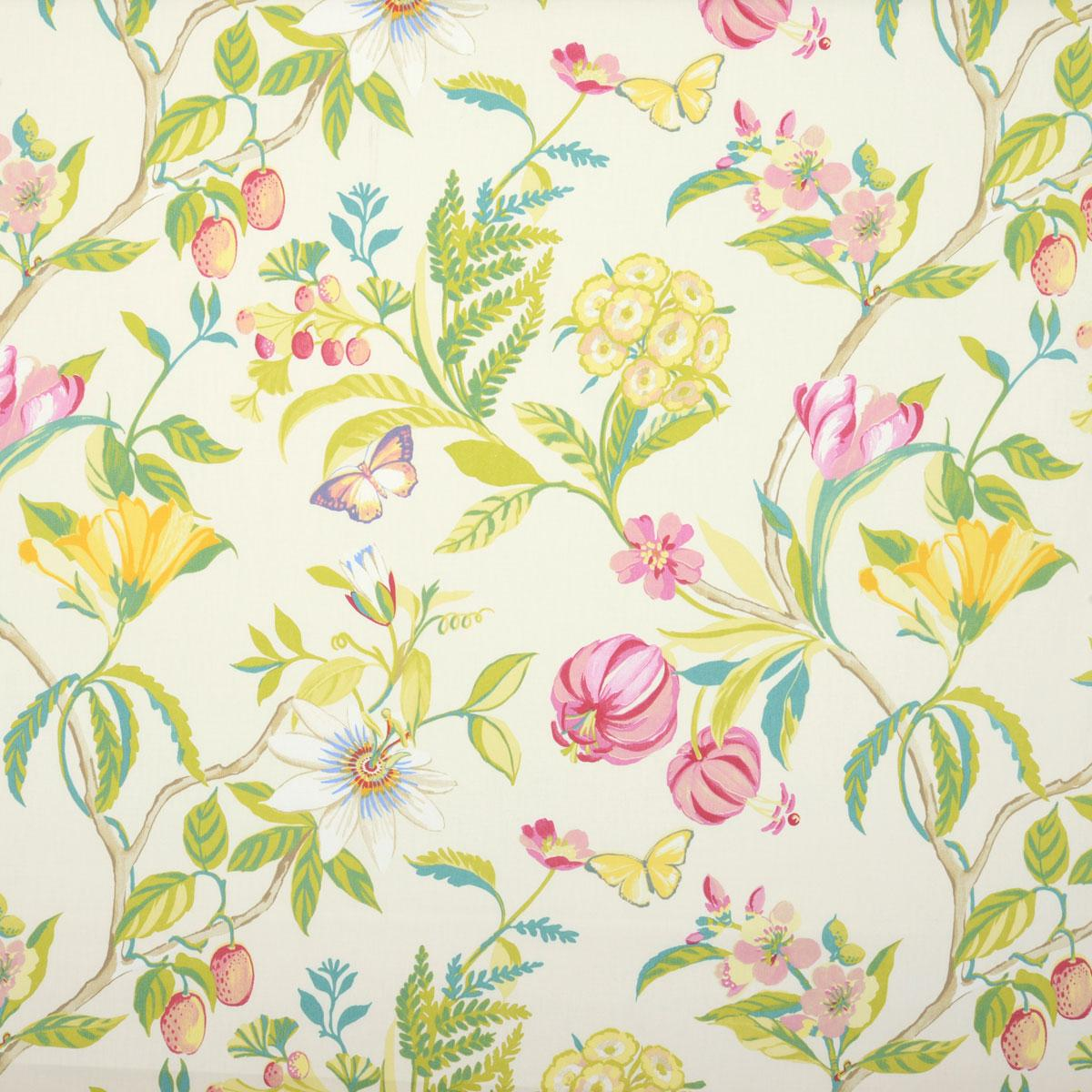 Botanica Curtain Fabric In Peony | Free UK Delivery | Terrys Fabrics