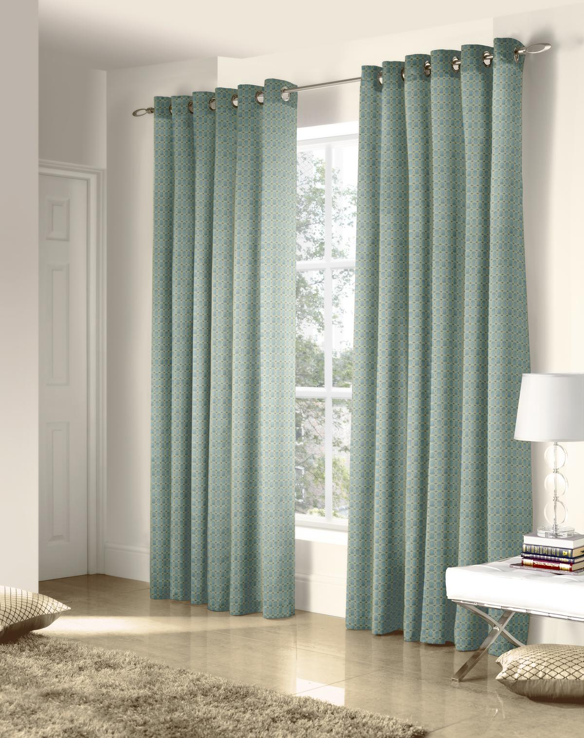 Ritz Eyelet Curtains In Duck Egg   Free UK Delivery   Terrys Fabrics