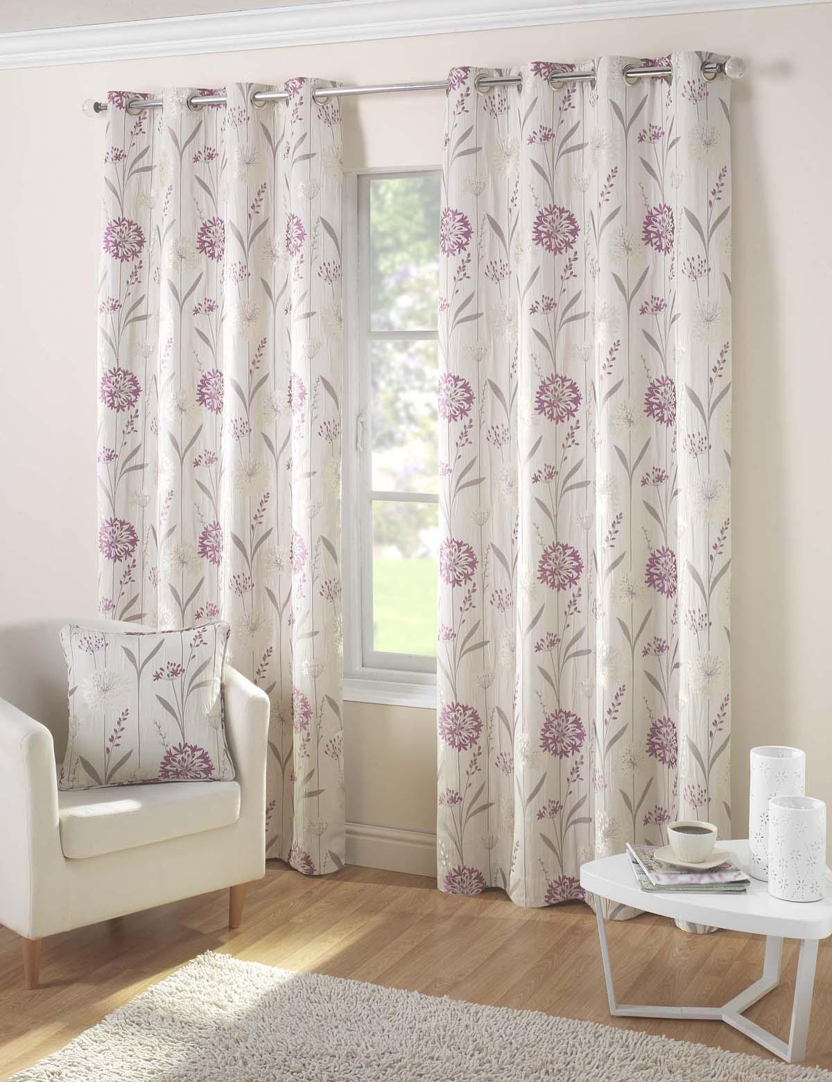 Santorini Eyelet Curtains In Lilac Free UK Delivery