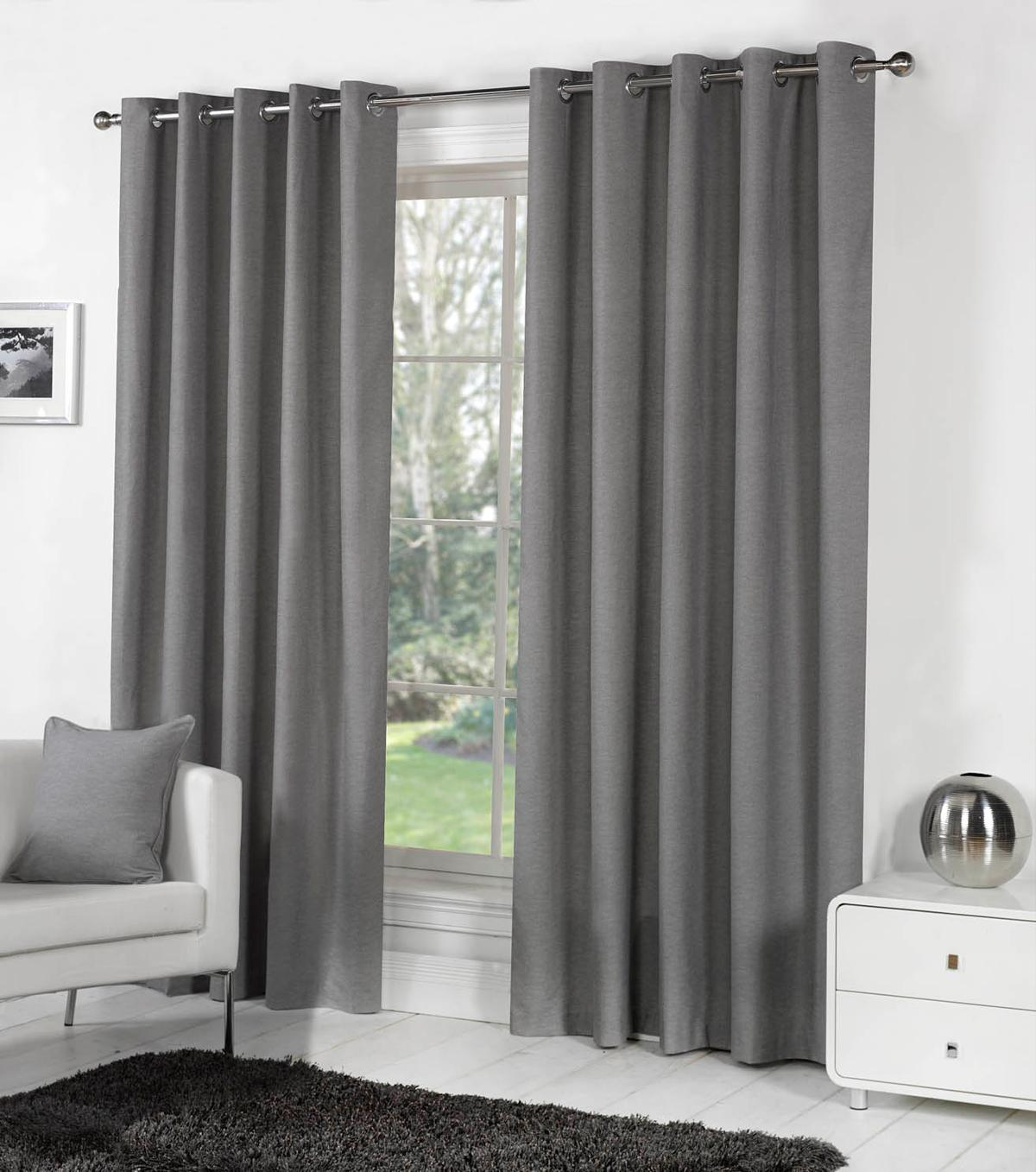 Perfect Sorbonne Ready Made Lined Eyelet Curtains