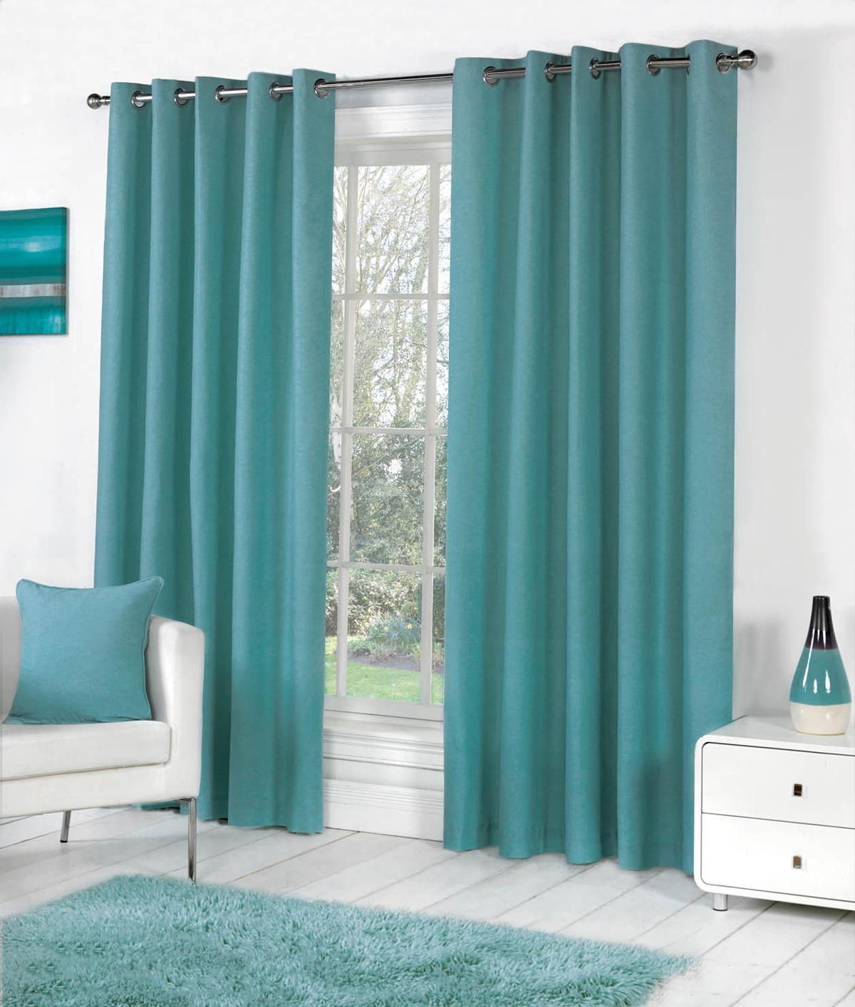 Sorbonne Eyelet Curtains In Teal