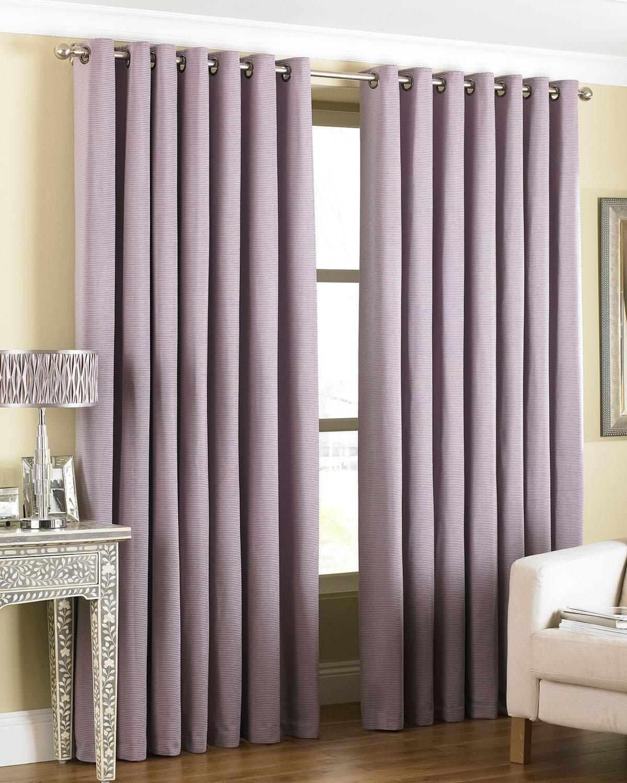 Amari Eyelet Curtains In Heather