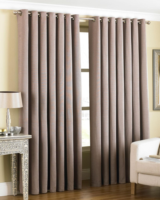 Amari Eyelet Curtains In Taupe