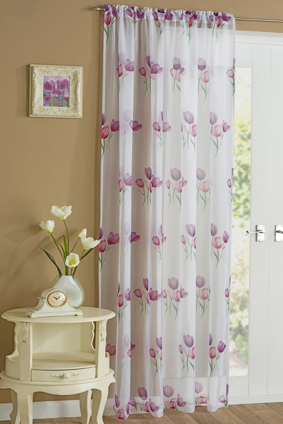 Tulip Voile Panel In Purple