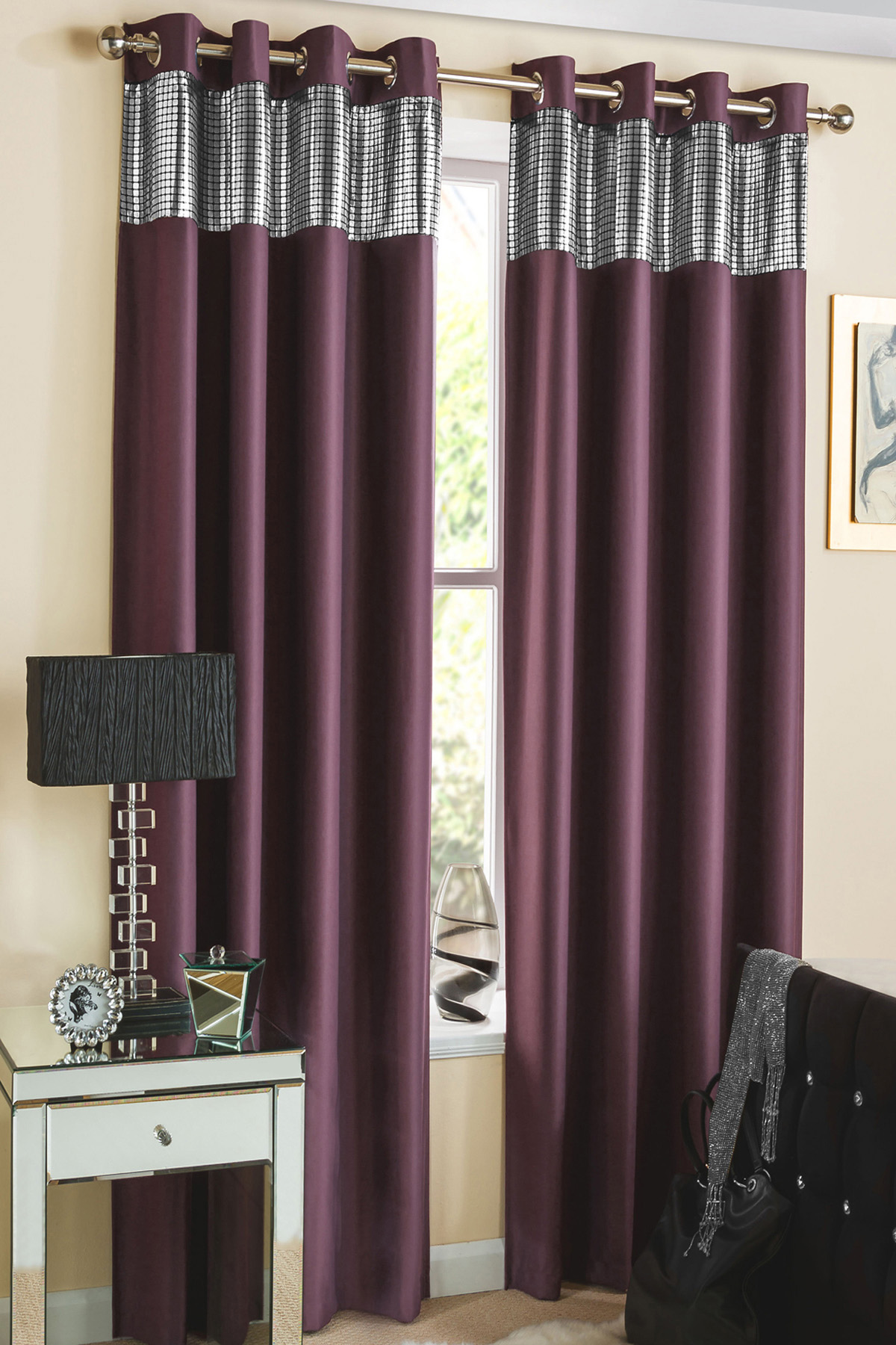 Photo Gray And Purple Shower Curtain Images Valance
