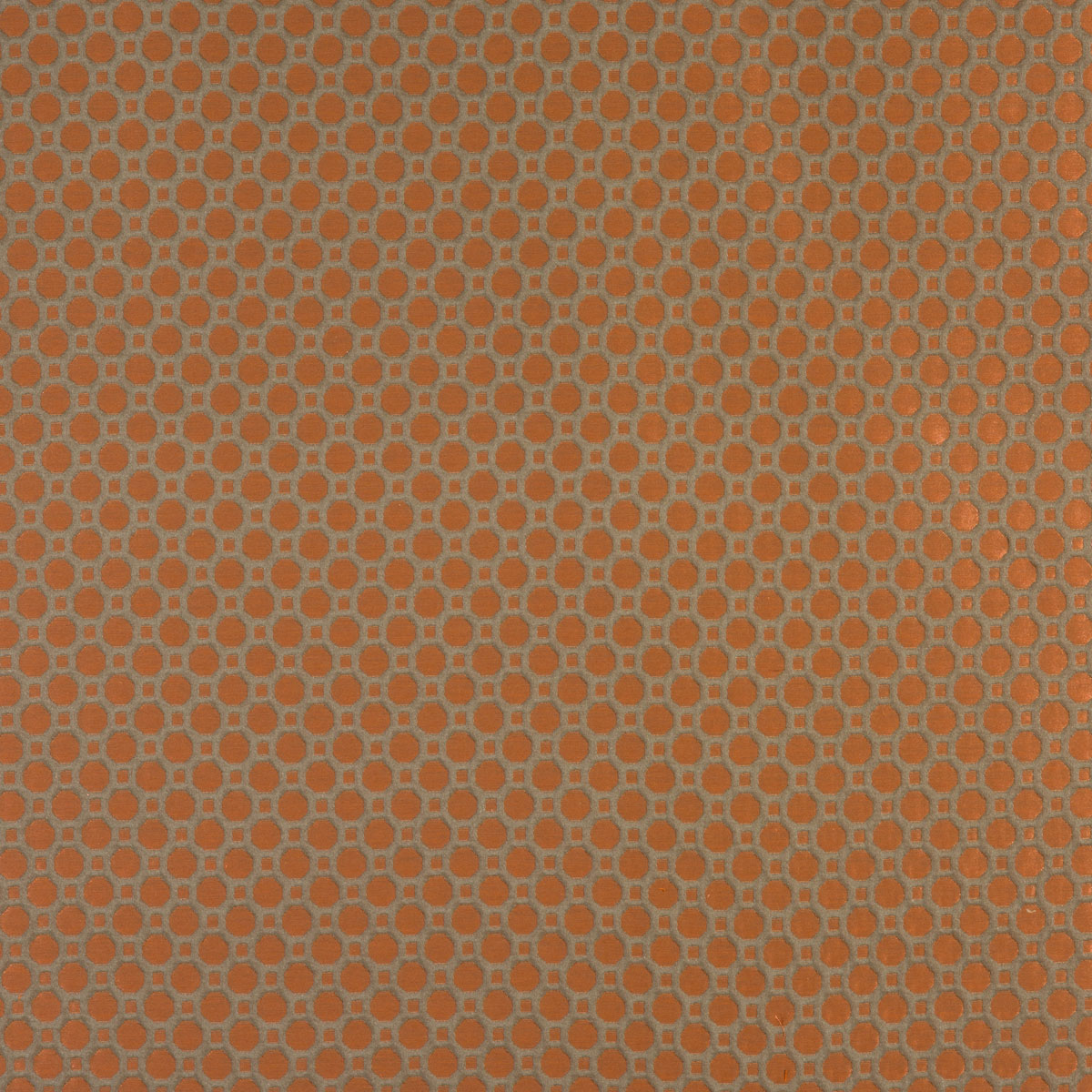 Honeycomb curtain fabric burntorange