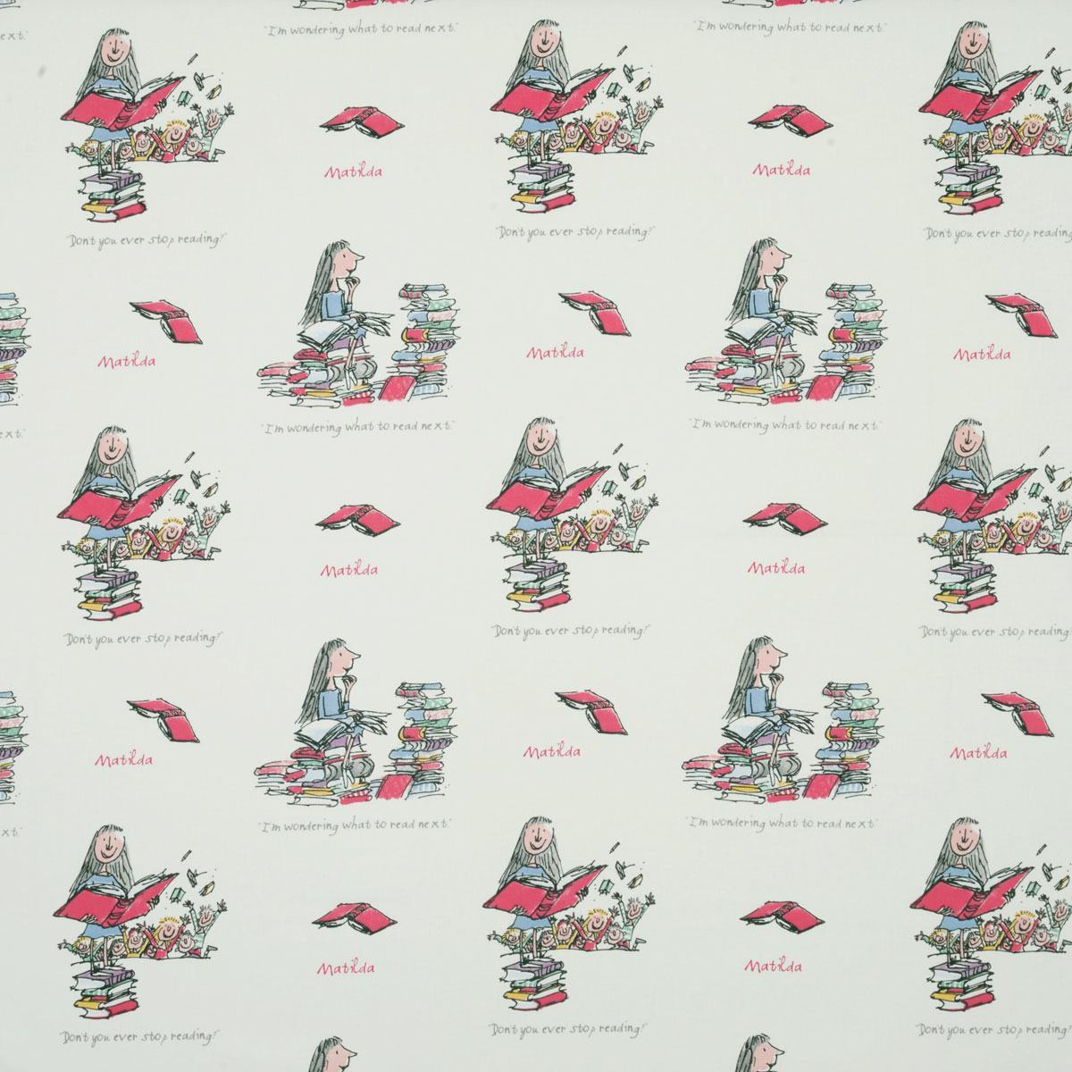 Roald Dahl Matilda Curtain Fabric | Free UK Delivery | Terrys Fabrics