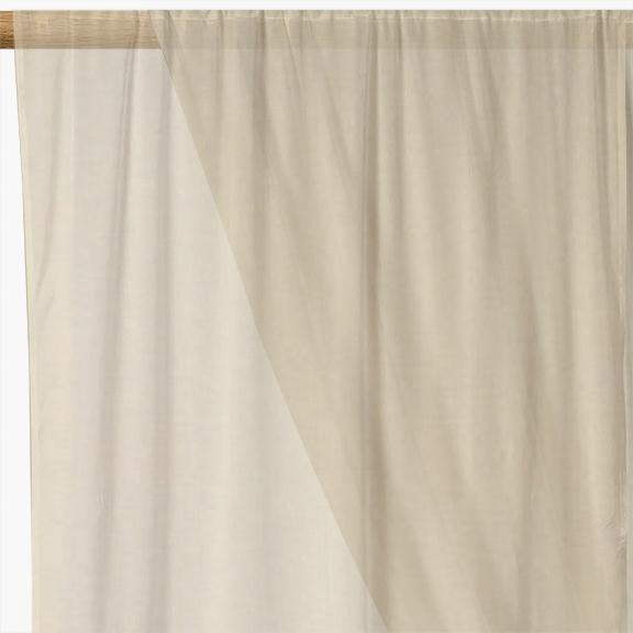 Cream Plain Voile Curtain Fabric   Cream Curtain Fabric   UK Delivery