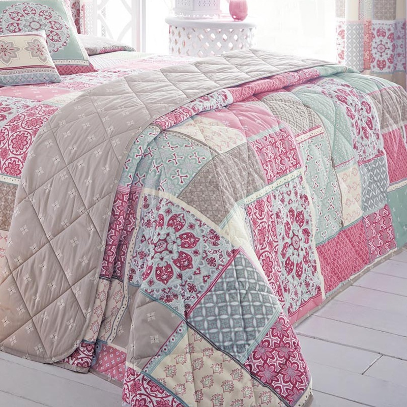 Pink Quilted Bedspreads | Duvet Covers And Bedding Sets | Terrys ... : pink quilted bedspread - Adamdwight.com