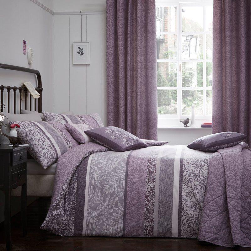 Hanworth bedding in heather free uk delivery terrys fabrics - Bedlinnen aubergine ...