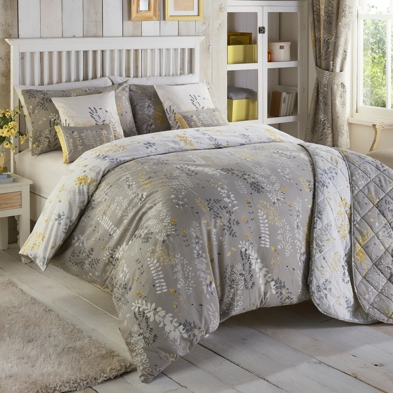 haze bedding in yellow free uk delivery terrys fabrics
