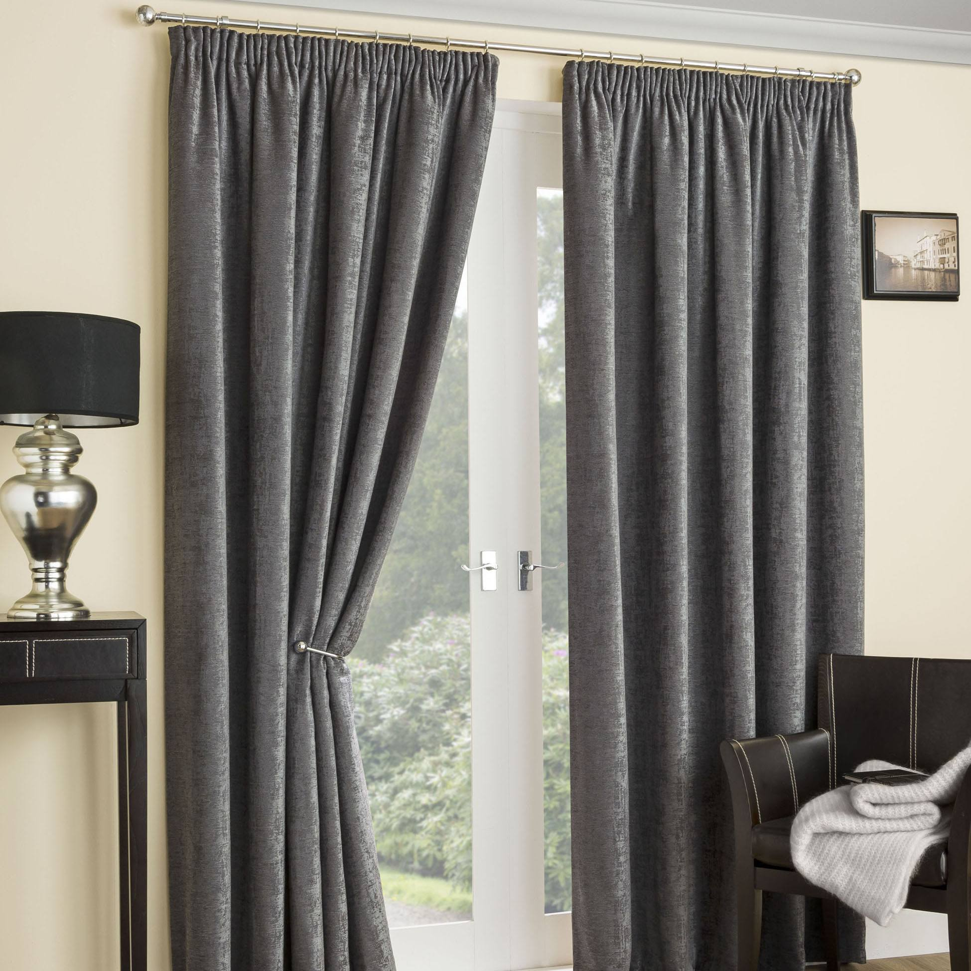Thermal curtains grey - Balmoral Thermal Interlined Ready Made Curtains