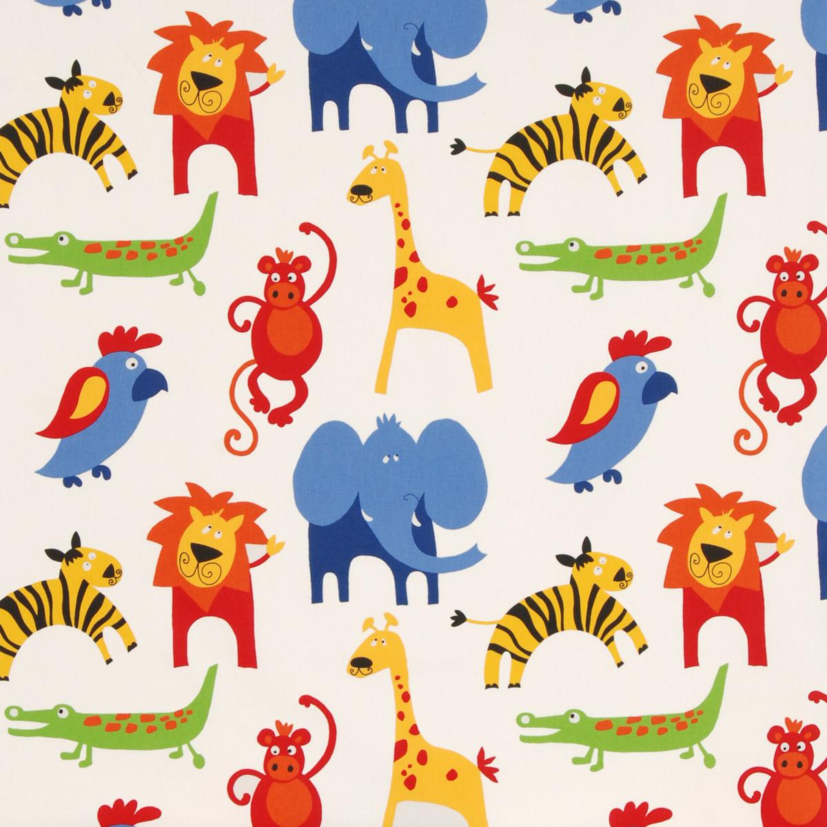 Animal print bathroom sets - Roar Curtain Fabric Primary Free Uk Delivery Terrys Fabrics