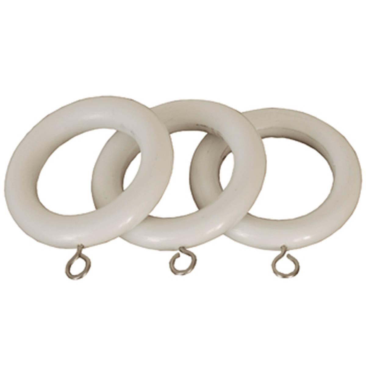 White curtain rings with clips - Curtain Rings White County 28mm Wooden Curtain Rings
