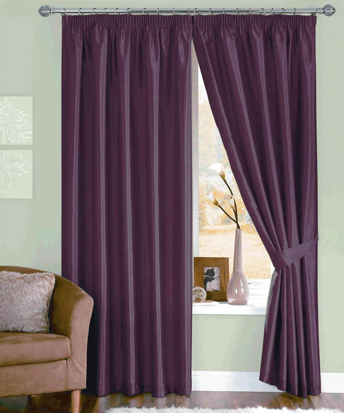 Purple silk curtains - Java Ready Made Curtains