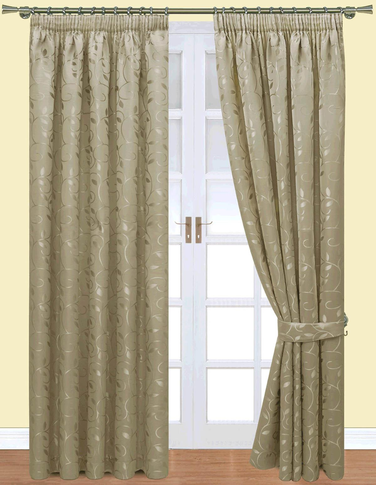 Caroline Ready Made Pencil Pleat Curtains Fully Lined