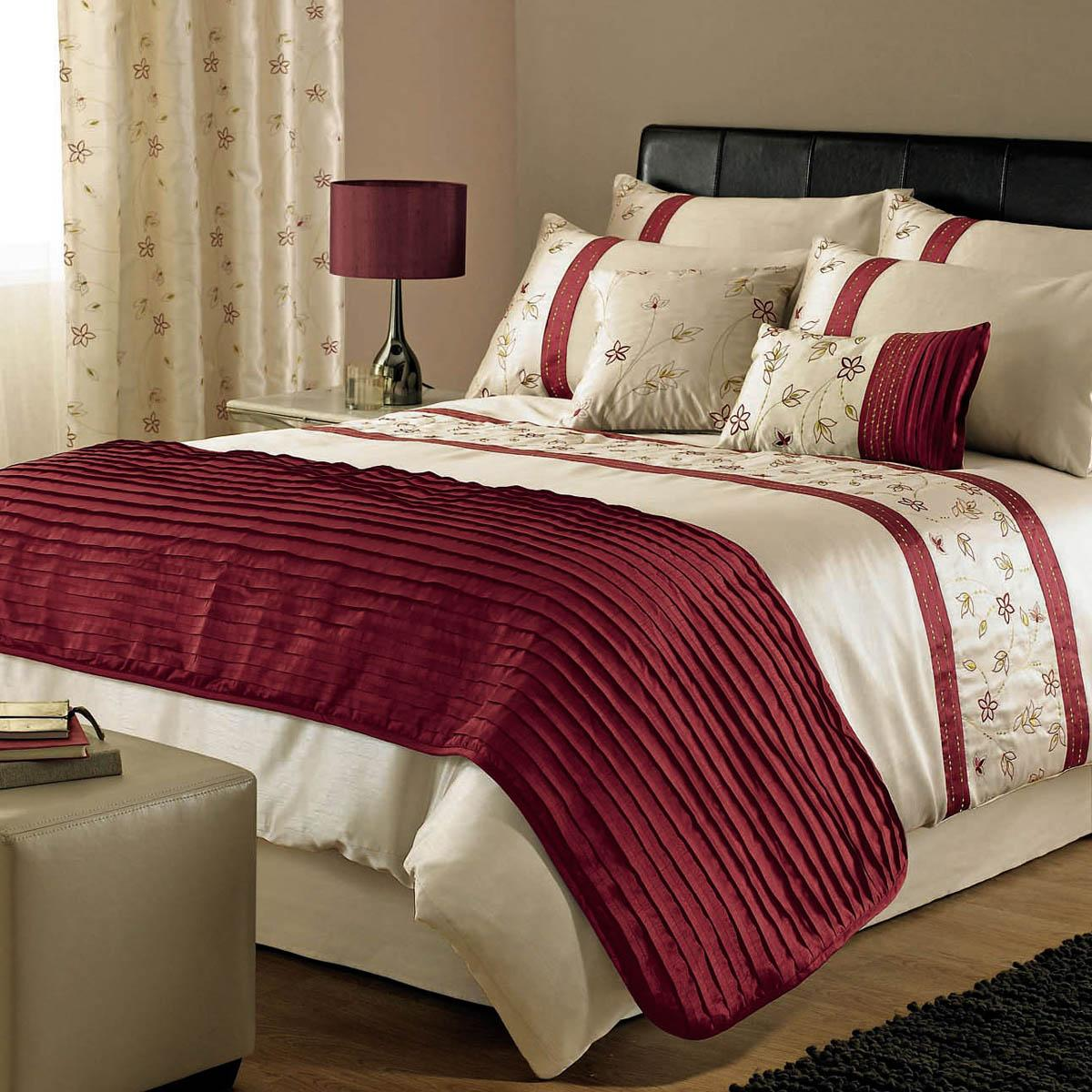 Black and white damask bedding queen - Red Iola Embroidered Duvet Cover Free Uk Delivery Terrys Fabrics