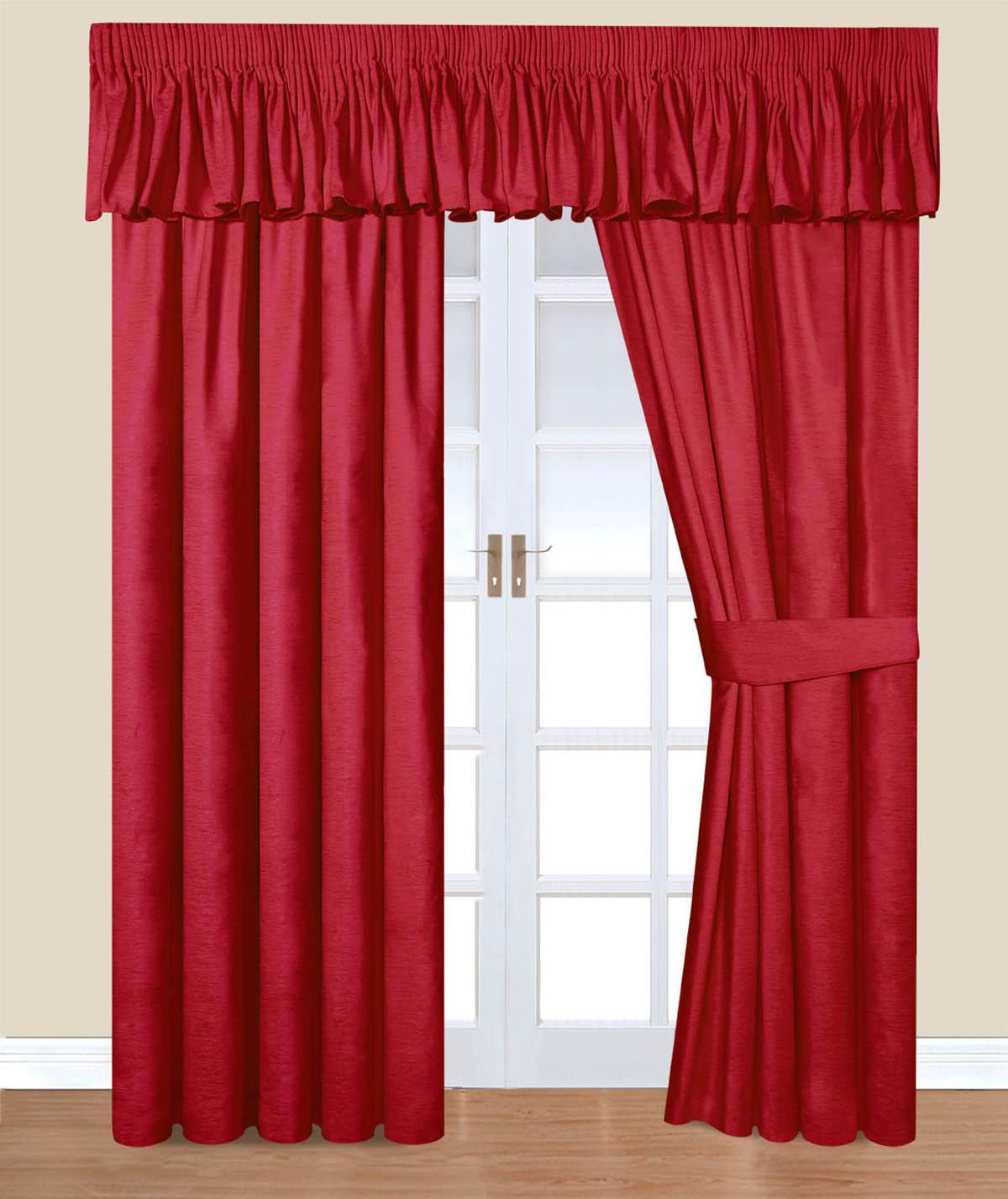 Red Velvet Velvet Ready Made Curtains Free UK Delivery Terrys - Ready made curtains red