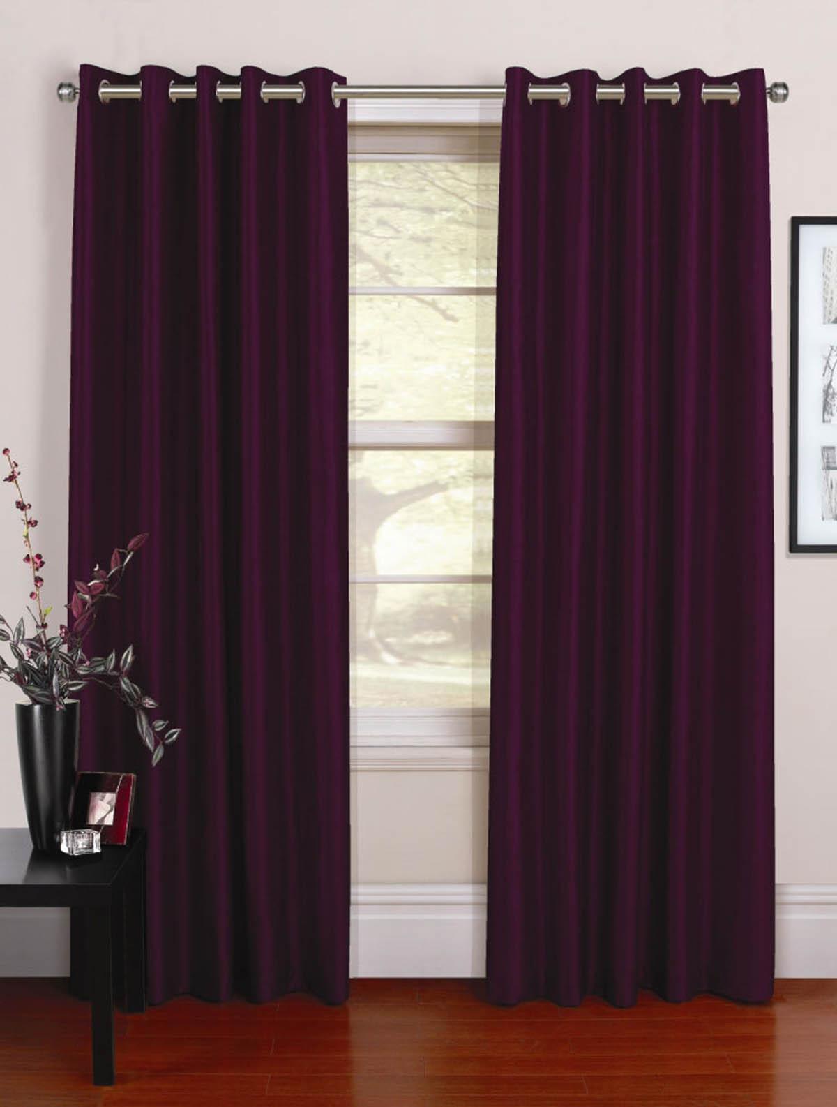 Plum curtains - Purple Curtains Venezia Ready Made Eyelet Curtains