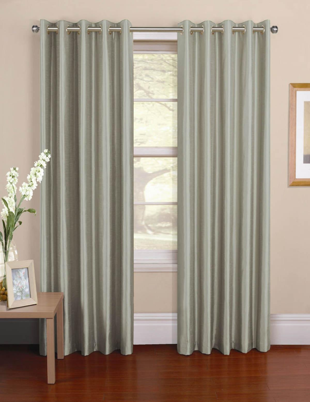 Cheap grey curtains - Venezia Ready Made Eyelet Curtains