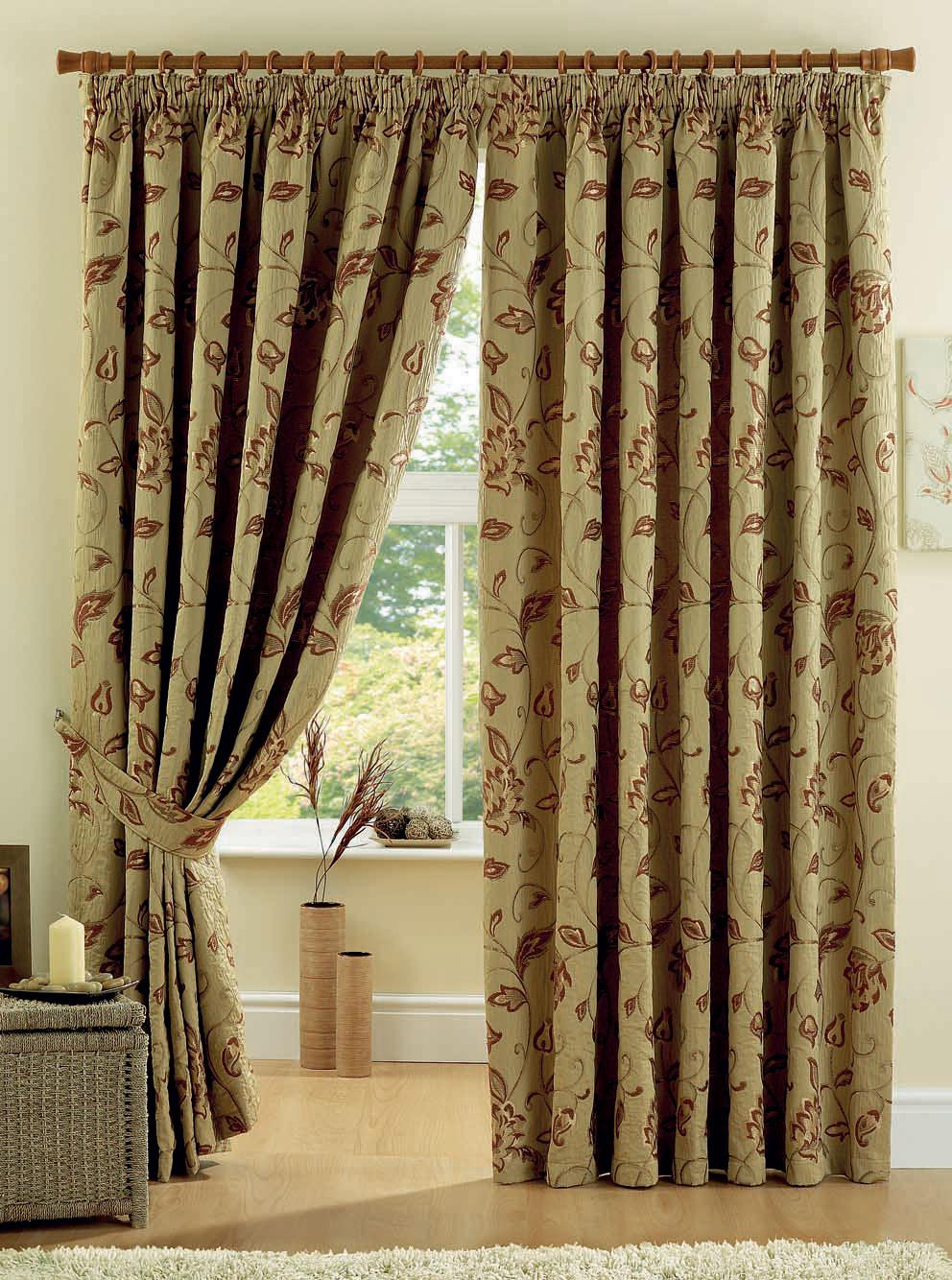 Maybury Ready Made Curtains Terracotta Free Uk Delivery