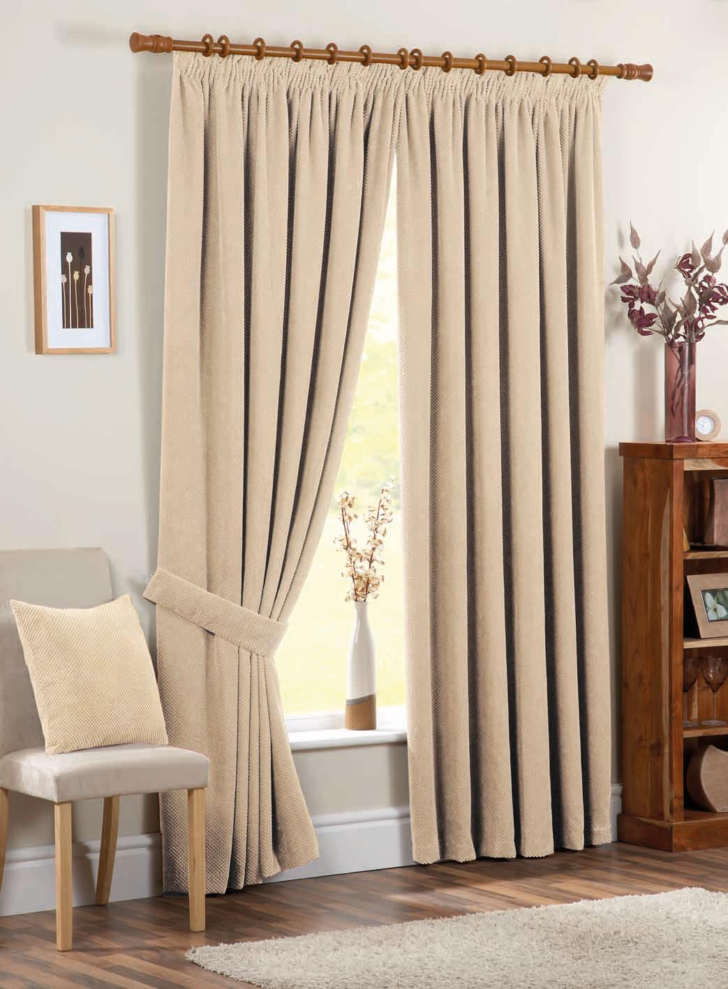 Chenille Spot Ready Made Curtains