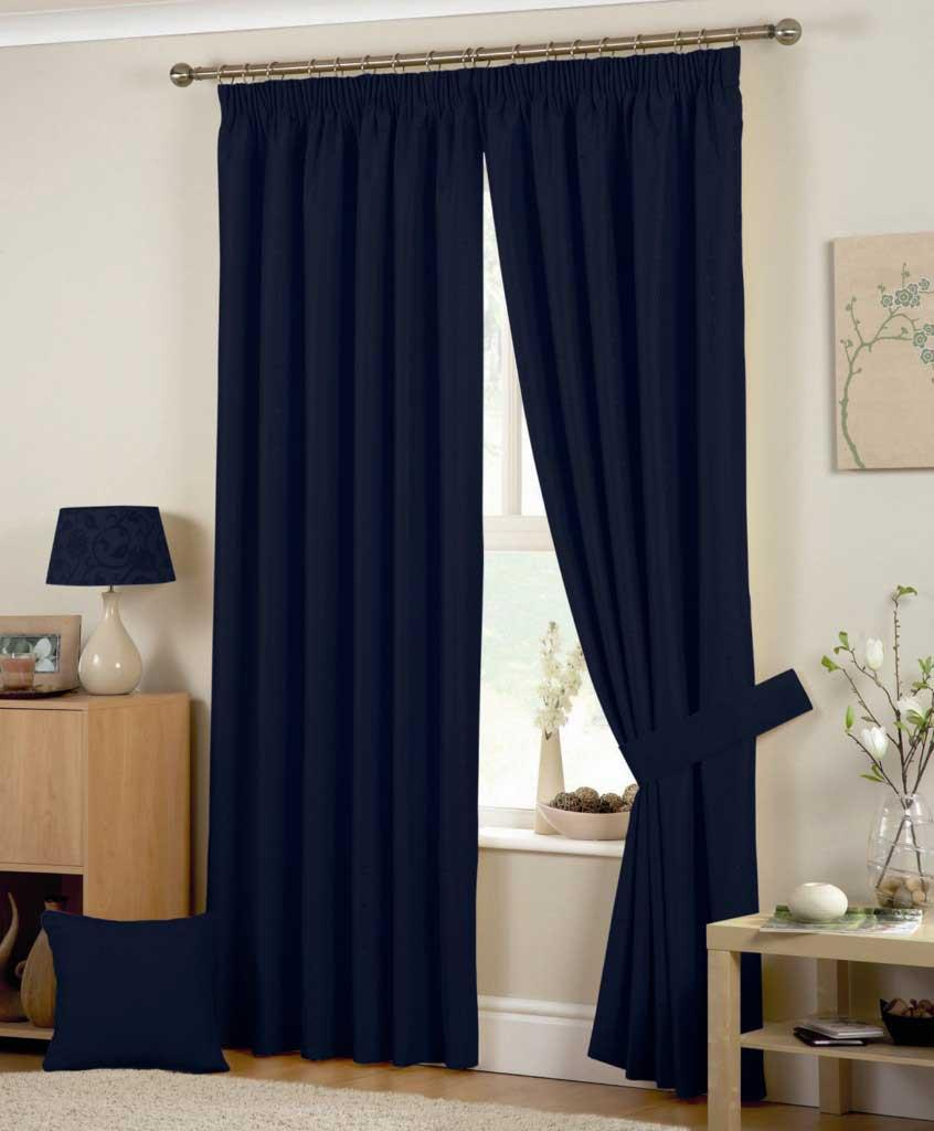 Navy And White Curtains Hudson Ready Made Curtains In Navy Free Uk Delivery Terrys Fabrics