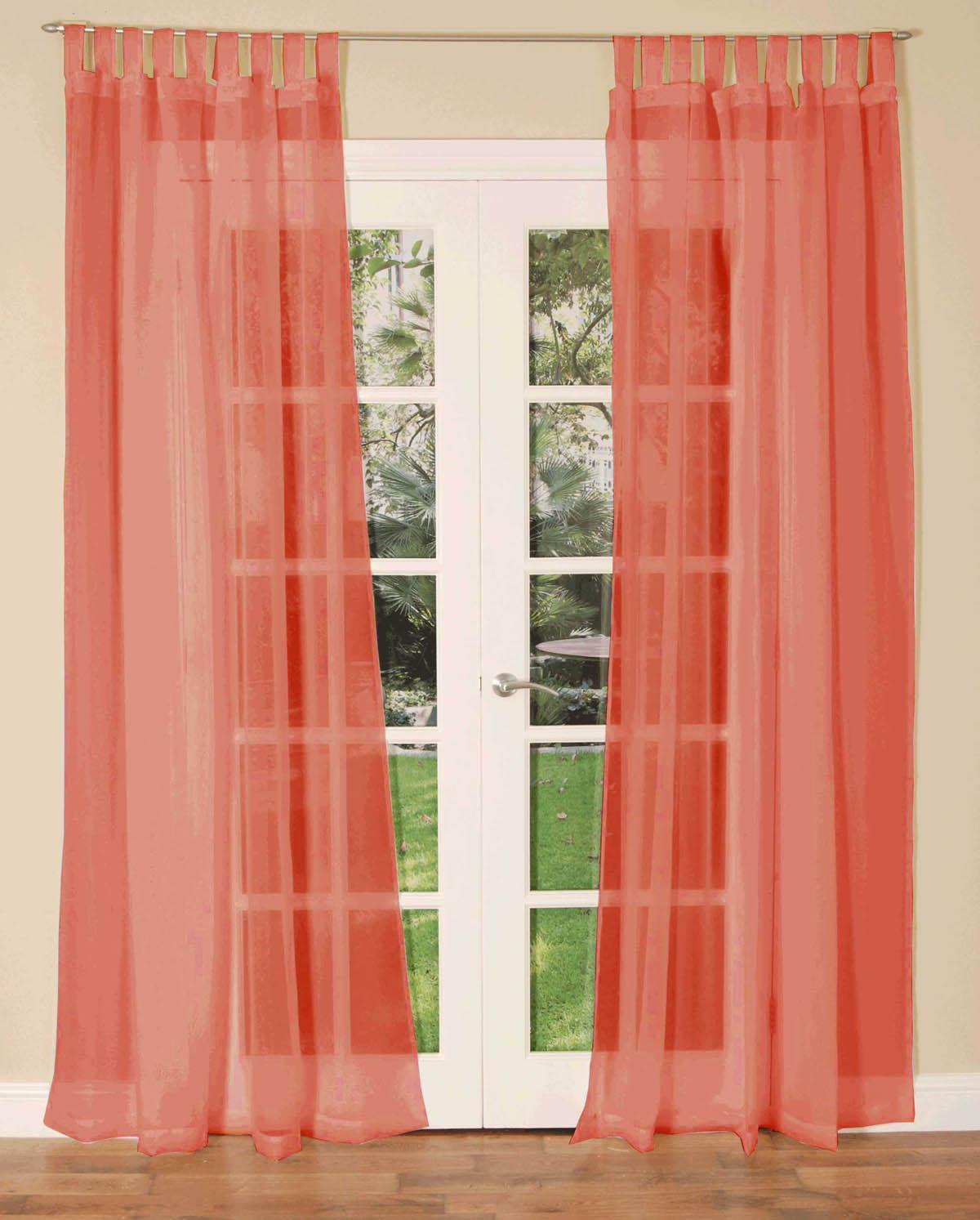 Slot top voile pair olive cheap green curtain voile uk delivery - Tab Top Voile Single Curtain Panel