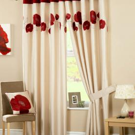 Danielle Ready Made Eyelet Lined Curtains
