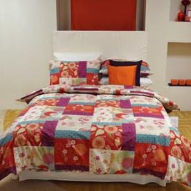 Oriental Printed Patchwork Duvet Cover