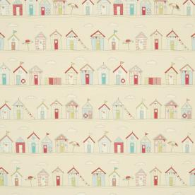 Beach Huts Curtain Fabric