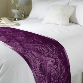Embossed Satin Bed Runner