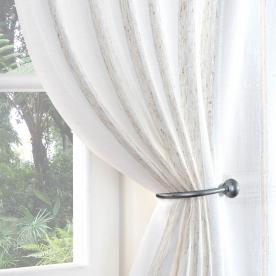 Boucle Stripe Voile Curtain Panel