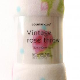 Vintage Rose Throw