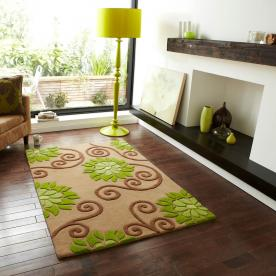 Indian rugs cheap indian rugs from terrys rugs uk delivery - Taupe et vert anis ...