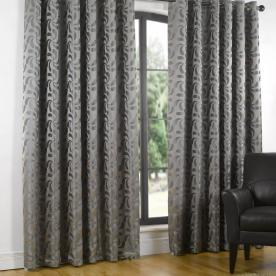 Erin Lined Eyelet Ready Made Curtains