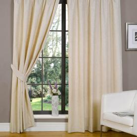 Linen Look Lined Curtains
