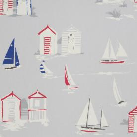 Beach Hut Curtain Fabric