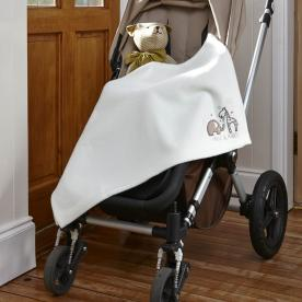 Elli and Raff Embroidered Buggy Blanket