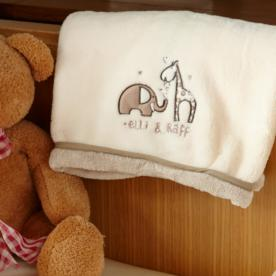 Elli and Raff Micro Fleece Snuggle Blanket